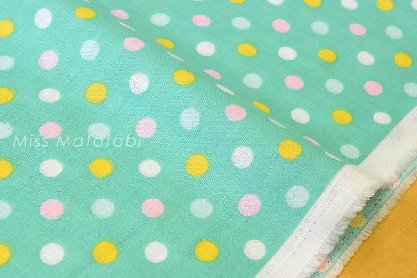 Double gauze candy dots - mint