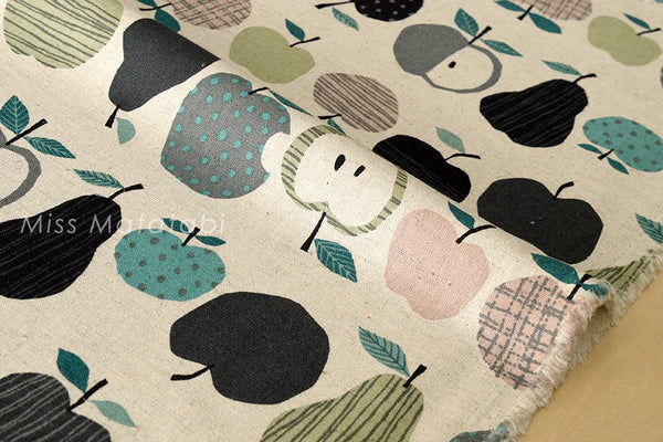Japanese Fabric - fruit canvas - D