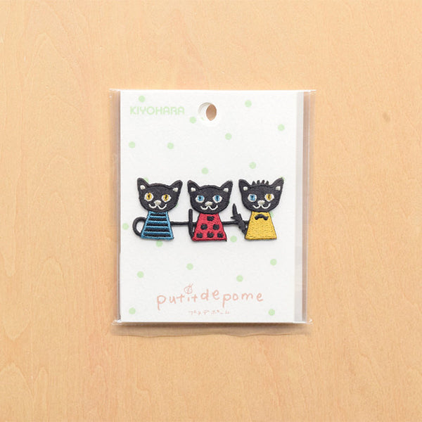 Putidepome - Kiyohara - Japanese iron-on patch - cats
