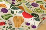 Japanese Fabric - vegetables canvas - C - fat quarter