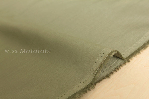 Solid cotton lawn - khaki