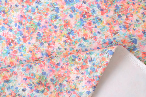 Spacer Knit - digital print floral - A