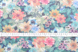 Japanese Fabric Spacer Knit - digital print garden  - 50cm