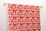 Japanese Fabric - polar bears canvas - red