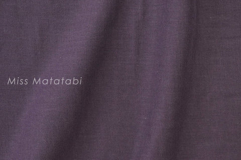 Japanese Fabric - Kobayashi solid double gauze - purple - 50cm