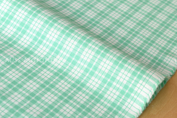 Yarn dyed gingham check - mint