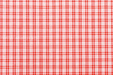 Yarn dyed gingham check - red