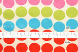 Japanese Fabric - big dots canvas - A