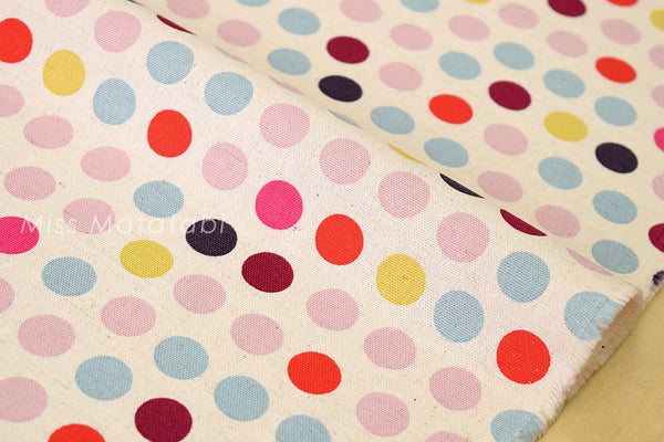 Japanese Fabric - little dots canvas - A - fat quarter
