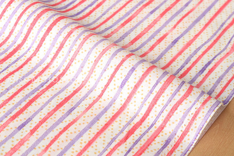Japanese Fabric - spotty stripes lawn - C
