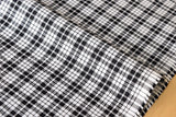 Japanese Fabric - yarn dyed gingham check - black