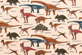 Japanese Fabric - dinosaur twill - fat quarter
