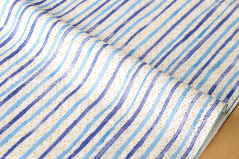Japanese Fabric - spotty stripes lawn - D