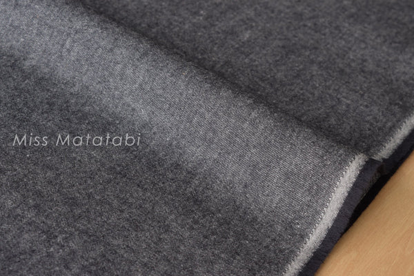 Yarn Dyed Brushed Twill - charcoal