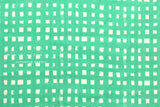 Japanese Fabric - painted gingham double gauze - green