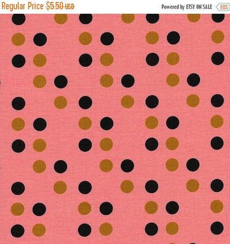 Cotton + Steel Lucky Strikes - dime store dot coral