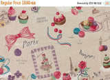 Japanese Fabric Yuwa - Paris Sweets - natural - canvas