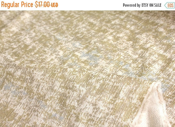Metallic Glitter Linen blend - gold, oatmeal