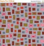 Cotton + Steel Homebody - Philately lawn silver - fat quarter