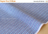 Japanese Fabric - indigo chambray multi stripes - D