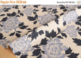 Japanese Fabric Xanthia flowers - E