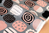 Japanese Fabric - Stamps canvas - E