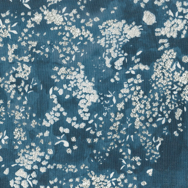 Nani Iro Kokka Japanese Fabric Lei nani - for beautiful corolla linen - sea hawaii