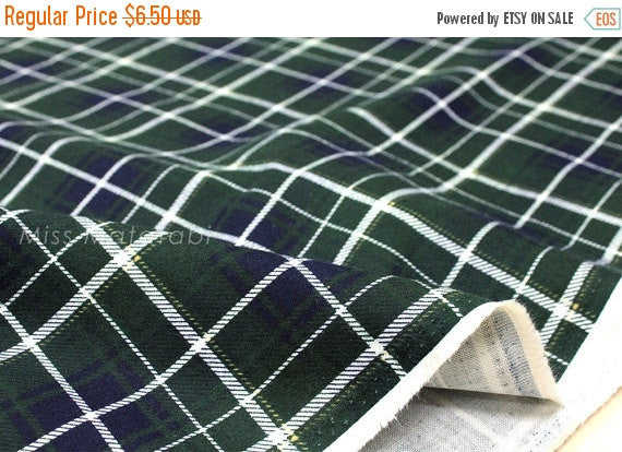 Tartan - brushed cotton double gauze - green