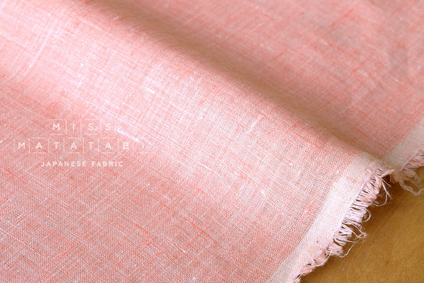 Japanese Fabric 100% linen - peach pink