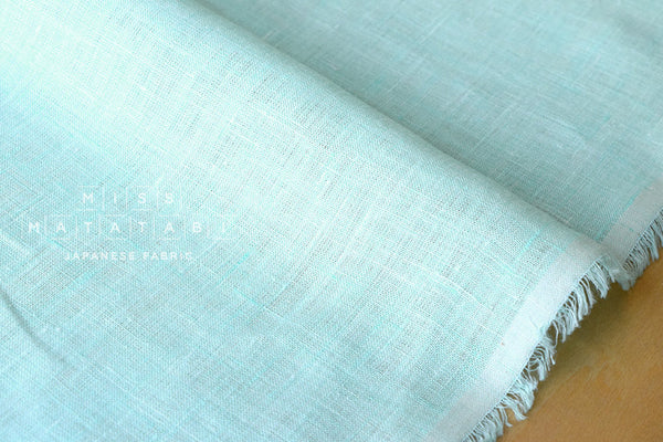 Japanese Fabric 100% linen - mint blue