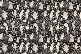 Japanese Fabric - Yuwa Wonderland - black