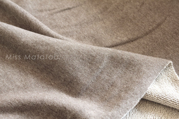 French Terry Knit - brown