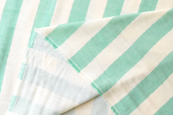 Double gauze - woven large stripes - green