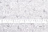 Flora and Fauna 2 - cotton lawn - light grey