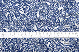 Flora and Fauna 2 - cotton lawn - blue