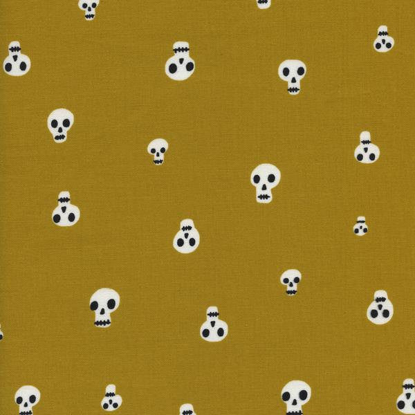 Cotton + Steel Boo! - charms mustard