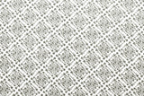 Double gauze - posy lattice - white, charcoal