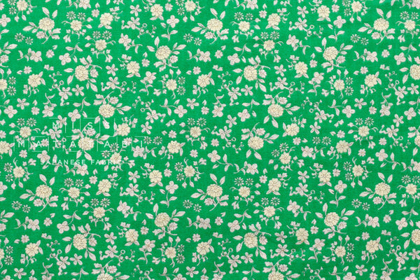 Double gauze - tiny floral - green