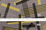 Kokka Ellen Baker - parallels double gauze - Intersections - grey