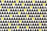 Kokka Ellen Baker - parallels flannel - mouse - yellow, black