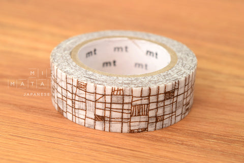 Washi masking tape - mt1P line brown  MT01D292
