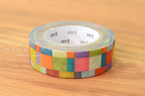 Washi masking tape - mt1P mosaic bright  MT01D176