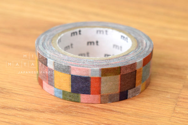 Washi masking tape - mt1P mosaic grayish  MT01D177