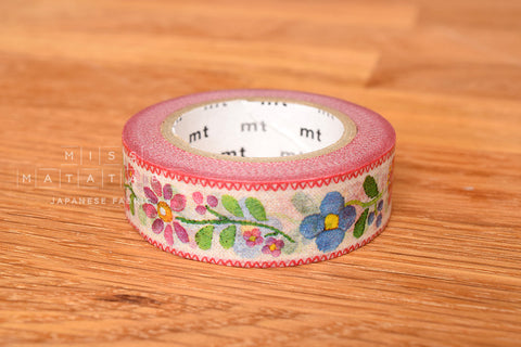 Washi masking tape - mt ex embroidery  MTEX1P68