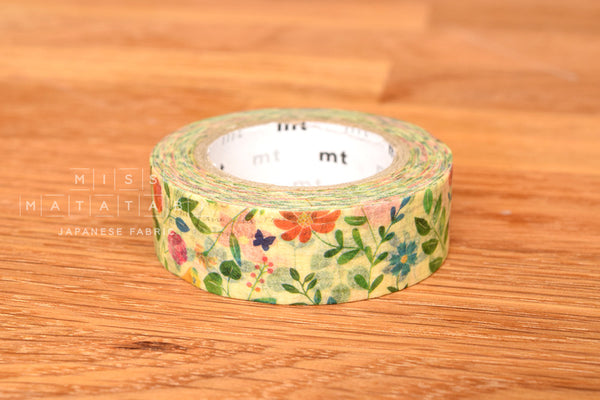 Washi masking tape - mt ex watercolor flower  MTEX1P109