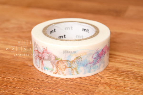 Washi masking tape - mt ex animals  MTEX1P111