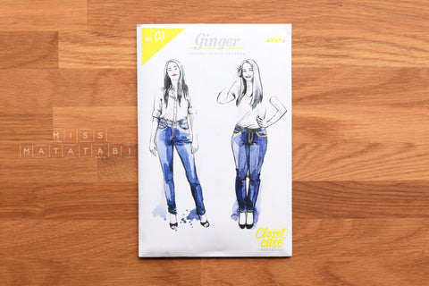 Ginger Skinny Jeans Pattern by Closet Case Patterns