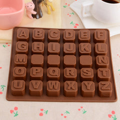SLOT LETTERS SHAPED DESSERT CAKE CHOCOLATE MOLD KITCHEN TOOL