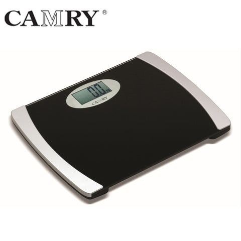 Camry 200kgs Electronic Personal Scale light with wide tempered glass platform (Light Green/Black)