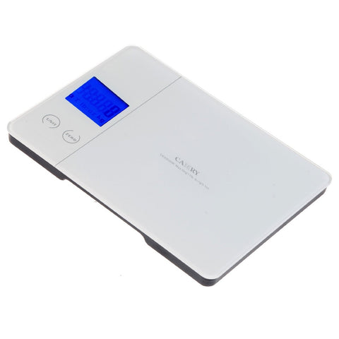 Camry Electronic Kitchen Scale - White color Blue Backlight with Touch Button